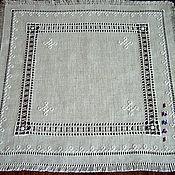 Для дома и интерьера handmade. Livemaster - original item Cloth, grey unbleached linen. Hand embroidery.. Handmade.