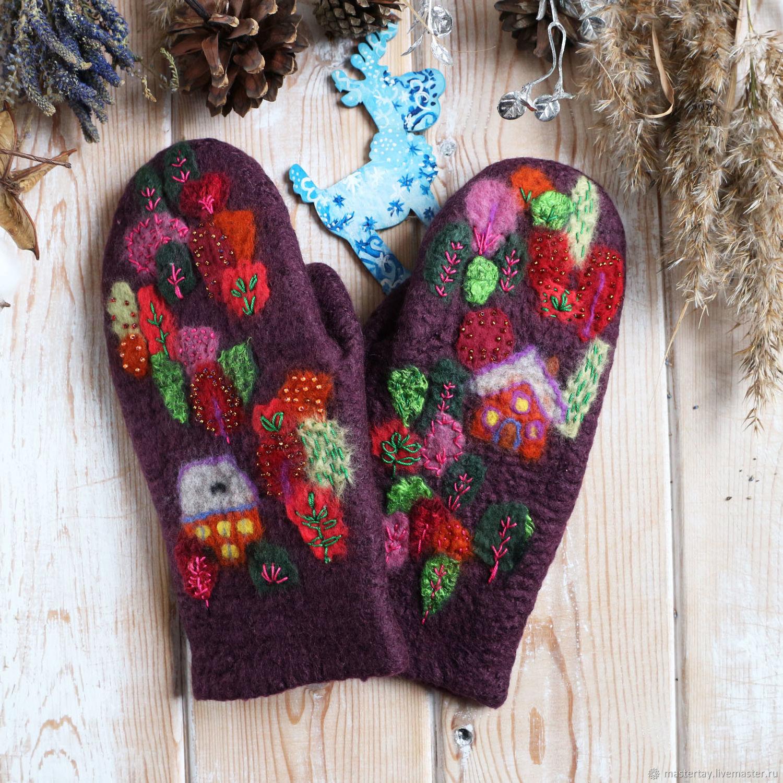 Felted mittens pattern, Mittens, Belovo,  Фото №1