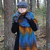 Аксессуары handmade. Livemaster - original item Scarf, stole colors peacock feather. Handmade.