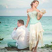 Свадебный салон ручной работы. Ярмарка Мастеров - ручная работа Свадебное платье с утягивающим корсетом. Handmade.