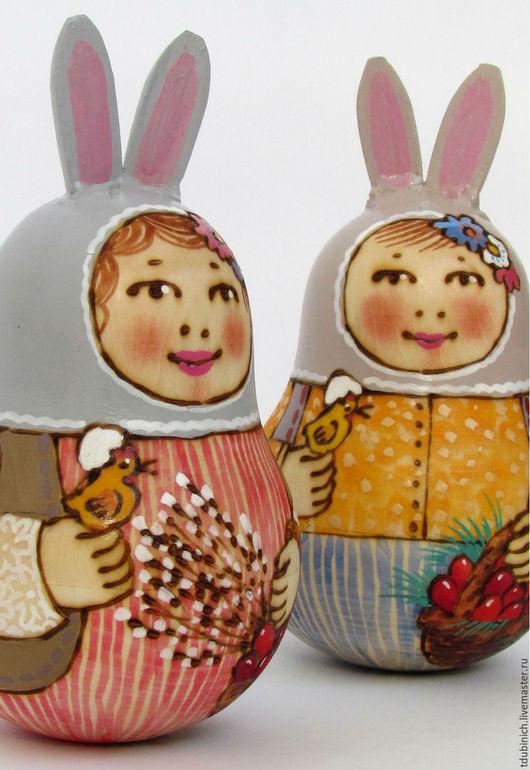 """Подарки на Пасху ручной работы. Ярмарка Мастеров - ручная работа. Купить Неваляшка """"Пасхальный заяц"""" пасхальный подарок, игрушка. Handmade."""