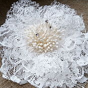 handmade. Livemaster - original item Brooch of delicate lace