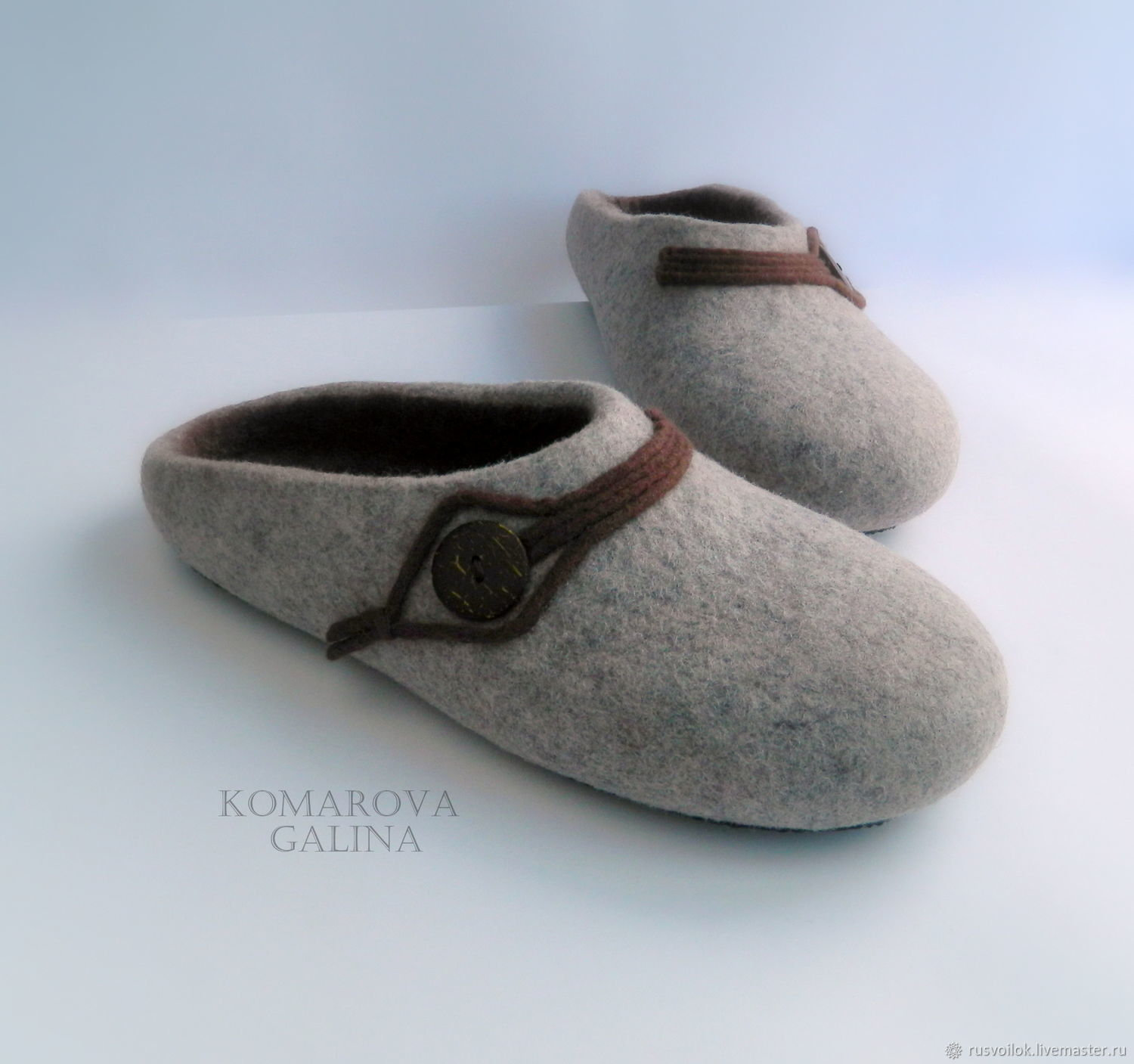 Mens felted Slippers 'Style', Slippers, Moscow,  Фото №1