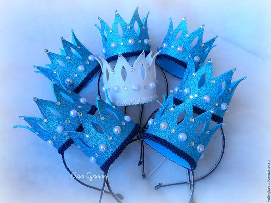 """Детская бижутерия ручной работы. Ярмарка Мастеров - ручная работа. Купить Ободок новогодний """"Корона для принцессы"""". Handmade. Комбинированный, корона"""