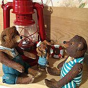 """Куклы и игрушки ручной работы. Ярмарка Мастеров - ручная работа """"Трое в лодке,не считая собаки"""". Handmade."""