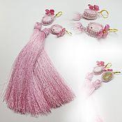 """Украшения ручной работы. Ярмарка Мастеров - ручная работа """"Розовые лепестки"""" серьги с шелковыми кистями и кристаллами Swarovski. Handmade."""