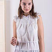 Одежда handmade. Livemaster - original item White long linen dress. Handmade.