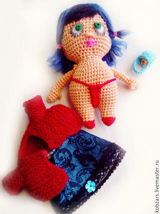 Человечки ручной работы. Ярмарка Мастеров - ручная работа. Купить игровая кукла Красная шапочка. Handmade. Ярко-красный, подарок