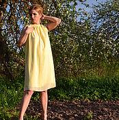 """Одежда ручной работы. Ярмарка Мастеров - ручная работа Платье до колена из шифона """"Лайм  1А"""". Handmade."""