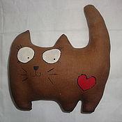 Куклы и игрушки ручной работы. Ярмарка Мастеров - ручная работа Кофейный кот-обормот :). Handmade.