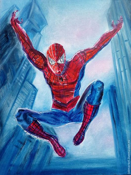 Фэнтези ручной работы. Ярмарка Мастеров - ручная работа. Купить Картина Человек-паук. Handmade. Картина в подарок, подросток