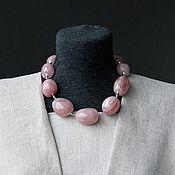 Украшения ручной работы. Ярмарка Мастеров - ручная работа Колье из розового кварца. Handmade.