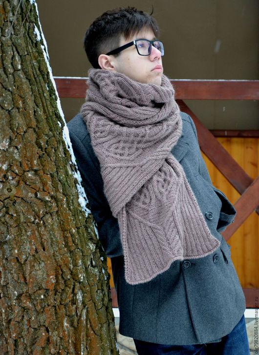 """Шарфы и шарфики ручной работы. Ярмарка Мастеров - ручная работа. Купить Длинный теплый шарф """"Мужчина-капучино"""". Handmade. Кофейный"""
