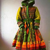 """Одежда ручной работы. Ярмарка Мастеров - ручная работа Лоскутное пальто """"Осень - рыжая подружка"""". Handmade."""