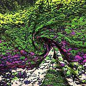 Материалы для творчества ручной работы. Ярмарка Мастеров - ручная работа 127501 плательная ткань Лавандовые поля. Handmade.