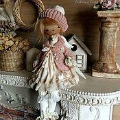 Куклы и игрушки ручной работы. Ярмарка Мастеров - ручная работа Angel. Акварелька. Текстильная коллекционная кукла ангел. Бохо стиль.. Handmade.