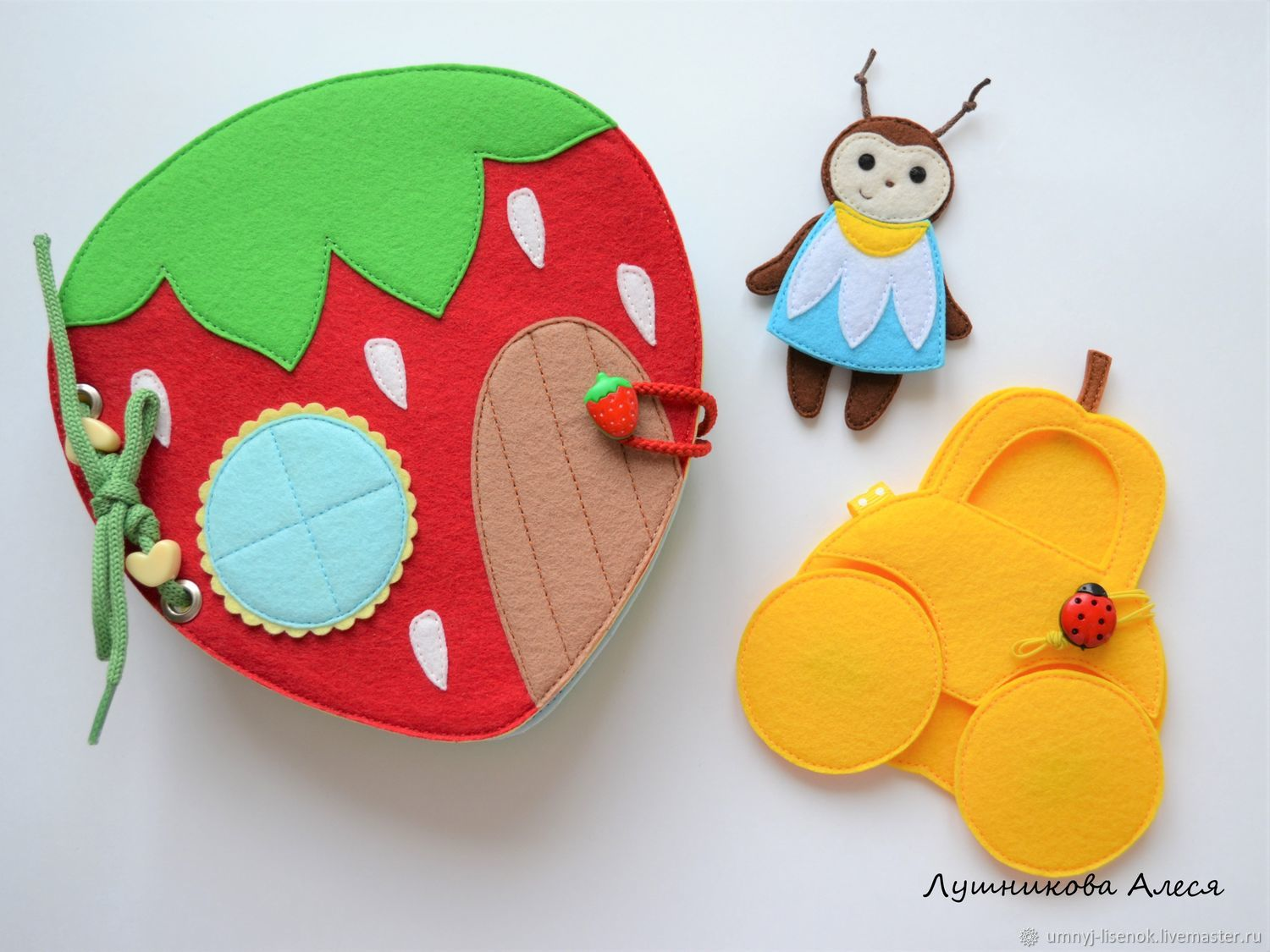 Mini-book of felt ' house bugs', Cubes and books, Snezhinsk,  Фото №1