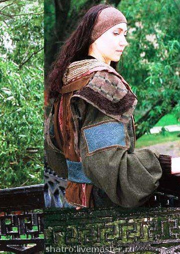 Верхняя одежда ручной работы. Ярмарка Мастеров - ручная работа. Купить пальто МУАРОВЫЕ СТРАСТИ. Handmade. Пальто, куртка