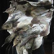 """Аксессуары ручной работы. Ярмарка Мастеров - ручная работа Валяный шарф-палантин""""Натурель"""" в технике нуно-войлок. Handmade."""