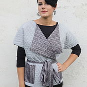 Одежда handmade. Livemaster - original item Vest grey double sided quilted spring. Handmade.