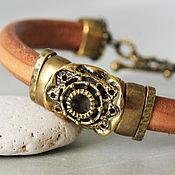 """Украшения ручной работы. Ярмарка Мастеров - ручная работа Кожаный браслет """"Мандала"""". Handmade."""