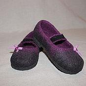 Обувь ручной работы. Ярмарка Мастеров - ручная работа Туфли валяные для девочки. Handmade.
