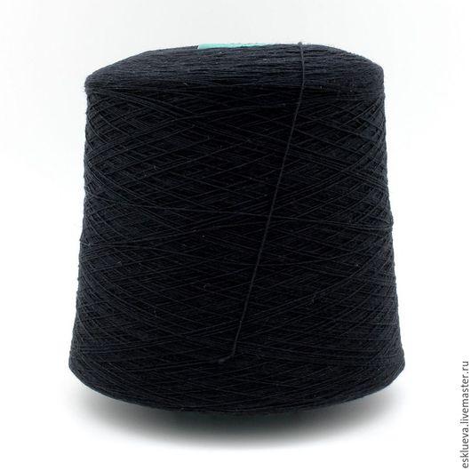 Вязание ручной работы. Ярмарка Мастеров - ручная работа. Купить Меринос Supergeelong. Handmade. Тёмно-синий, зимняя пряжа, пряжа