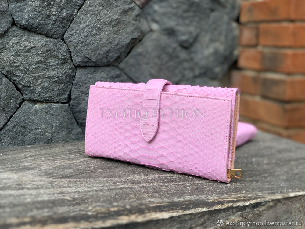 Python purse in soft pink color, Wallets, Moscow,  Фото №1