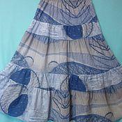 Одежда ручной работы. Ярмарка Мастеров - ручная работа Юбка из хлопка Под Джинсу длинная. Handmade.