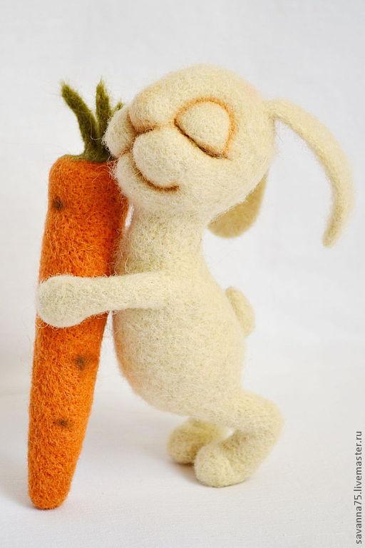 Игрушки животные, ручной работы. Ярмарка Мастеров - ручная работа. Купить Моя любовь - моя морковь!. Handmade. Белый