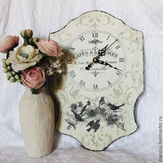 Часы для дома ручной работы. Ярмарка Мастеров - ручная работа. Купить Часы настенные ВЕРОНИС. Handmade. Чёрно-белый