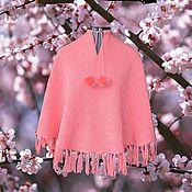 Одежда ручной работы. Ярмарка Мастеров - ручная работа Вязанное пончо для девочки. Handmade.