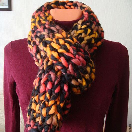"""Шарфы и шарфики ручной работы. Ярмарка Мастеров - ручная работа. Купить Шарф """"Осень"""". Handmade. Шарф, женский шарф, черный"""