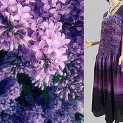 Одежда handmade. Livemaster - original item Dress - batik - hand painted. Handmade.