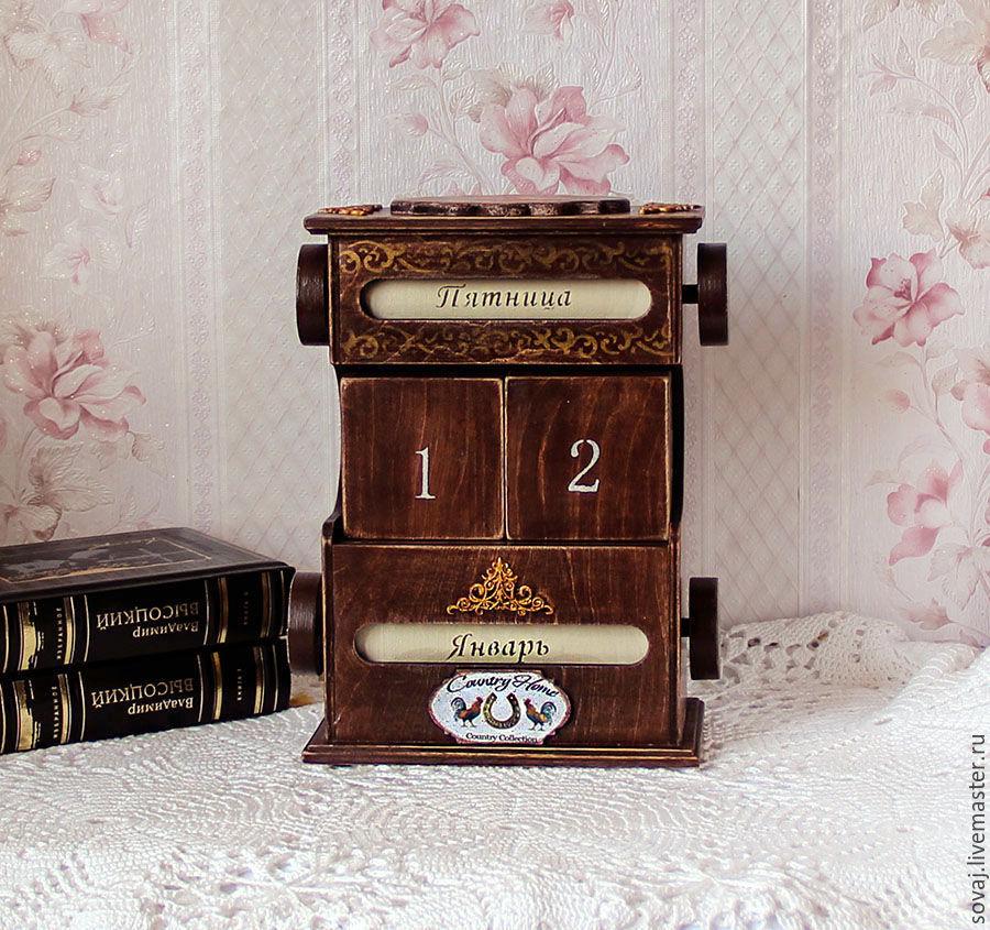 Perpetual calendar 'Bird house', Calendars, ,  Фото №1