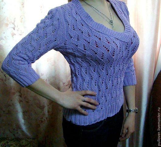 """Кофты и свитера ручной работы. Ярмарка Мастеров - ручная работа. Купить Пуловер """"Сирень"""". Handmade. Сиреневый, поулвер, свитер женский"""