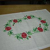 """Для дома и интерьера ручной работы. Ярмарка Мастеров - ручная работа салфетка """"розы"""". Handmade."""