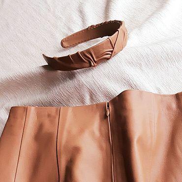 Одежда ручной работы. Ярмарка Мастеров - ручная работа Юбка-карандаш из натуральной кожи и ободок для волос. Handmade.