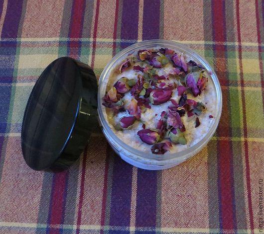 """Скраб ручной работы. Ярмарка Мастеров - ручная работа. Купить Скраб """"Розовый"""". Handmade. Розовый, душ, масло розы чайной"""