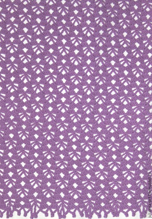 Шали, палантины ручной работы. Ярмарка Мастеров - ручная работа. Купить Палантин-шарф из 100% шерсти мериноса сиреневого цвета. Handmade.