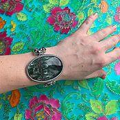 Украшения handmade. Livemaster - original item Bracelet with large, natural serafinite. Silver. RUSSIA. Handmade.