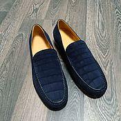 Обувь ручной работы handmade. Livemaster - original item Men`s loafers, genuine crocodile leather, nubuck.. Handmade.