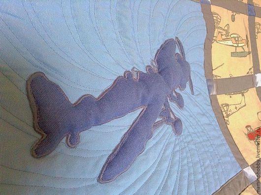 Детская ручной работы. Ярмарка Мастеров - ручная работа. Купить Плед покрывало для мальчика Первым делом самолеты. Handmade.