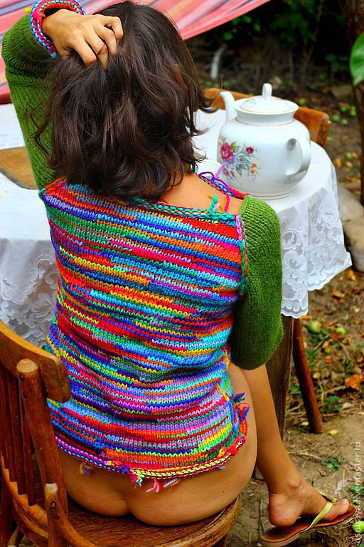 Кофты и свитера ручной работы. Ярмарка Мастеров - ручная работа. Купить фуфайка живоносная двусторонняя. Handmade. Пряжа самодельная