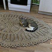 Для дома и интерьера handmade. Livemaster - original item Rug jute oval.. Handmade.