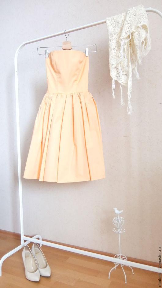 """Платья ручной работы. Ярмарка Мастеров - ручная работа. Купить Платье-бюстье """"La rose"""". Handmade. Оранжевый, платье летнее"""