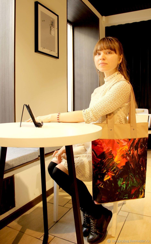 """Сумка с картиной Кристины Парфеновой """"Восход солнца"""""""