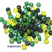 Материалы для творчества handmade. Livemaster - original item 10g Miyuki 6/0 MIX 03 shades of green Japanese beads Miyuki round mix. Handmade.