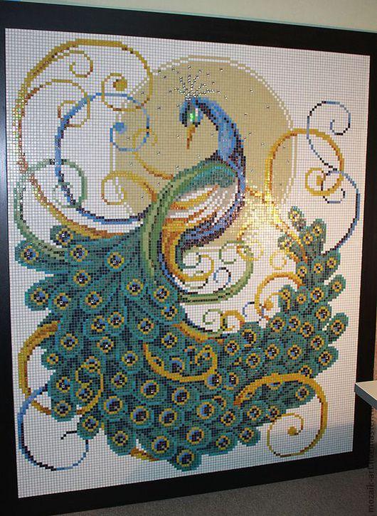 мозаичное панно со вставками хрусталя Swarovsky