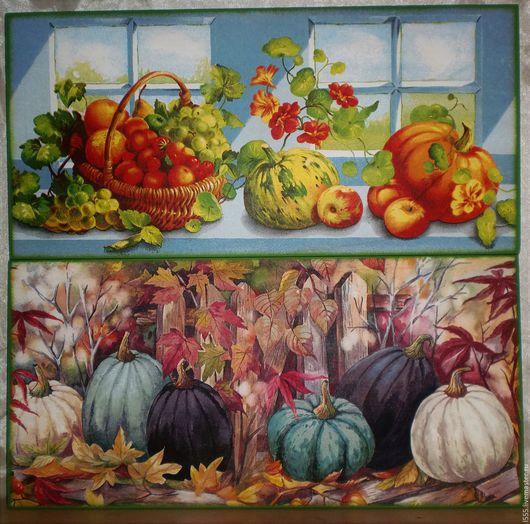 """Кухня ручной работы. Ярмарка Мастеров - ручная работа. Купить Разделочная доска панно """"Тыквы в саду"""". Handmade. Разноцветный, сад"""